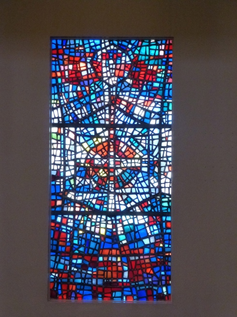 Stained glass at Skalholt