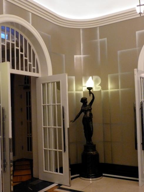 Statue in the Hotel Borg