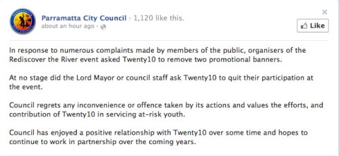 Parramatta City Council Statement